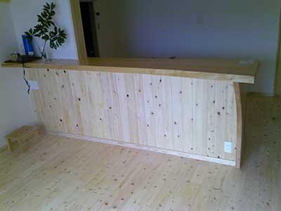 手作り木製カウンター